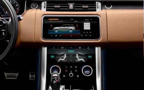 Монитор нового Range Rover Evoque