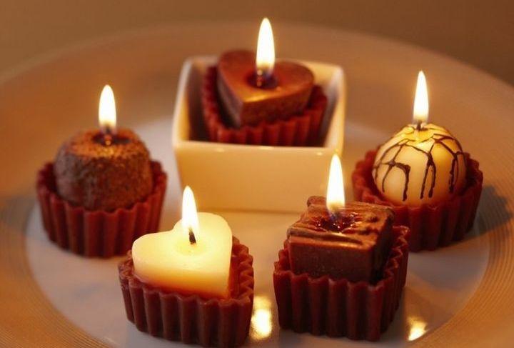 Свечи в виде конфет