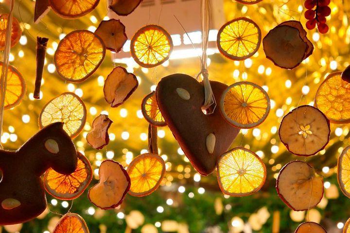 Новогодний декор из сушеных цитрусов