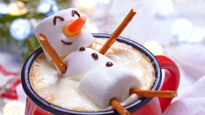 Снеговик из маршмаллоу