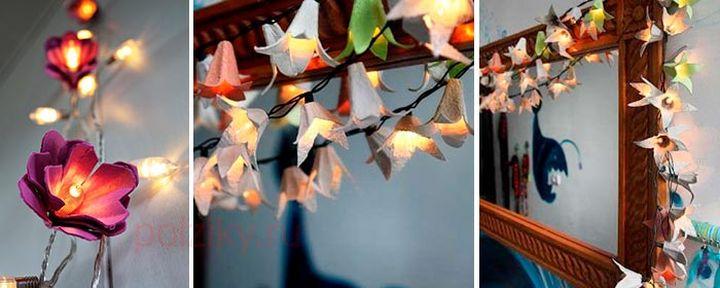 Новогодняя гирлянда из лампочек