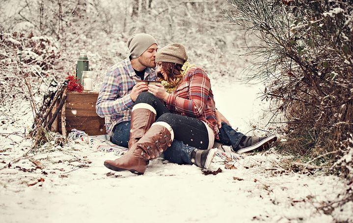 Пикник в зимнем лесу