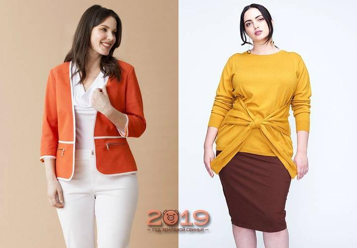 Стильные образы для пышных женщин 2019