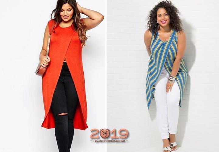 Модные луки для полных 2018-2019