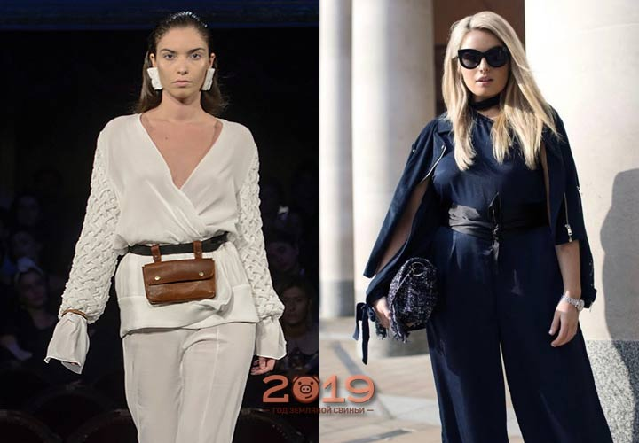 Брючный костюмы для пышных дам 2018-2019