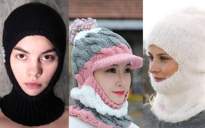 Вязаная шапка-шлем