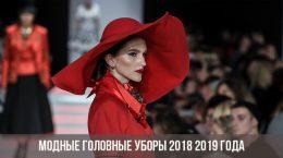 Модные головные уборы 2018 2019 года