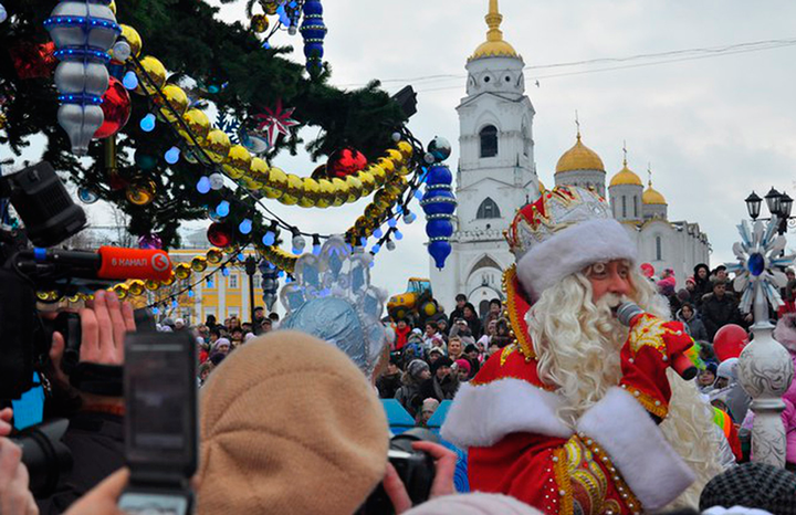 Новогодние гулянья в Суздале