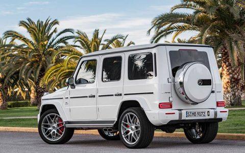 Белый Mercedes AMG G63 2019