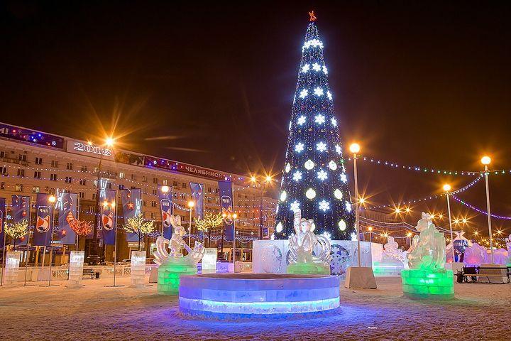 Новый год на главной площади Челябинска