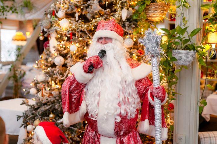 Дед Мороз у елки