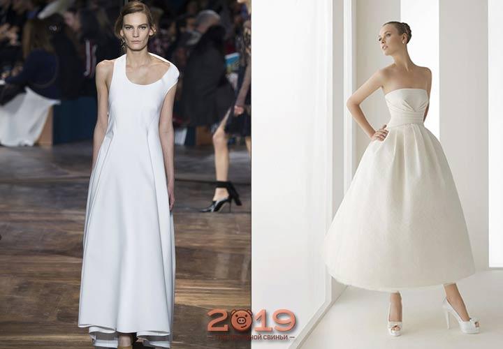 Лаконичное свадебное платье 2018-2019 года