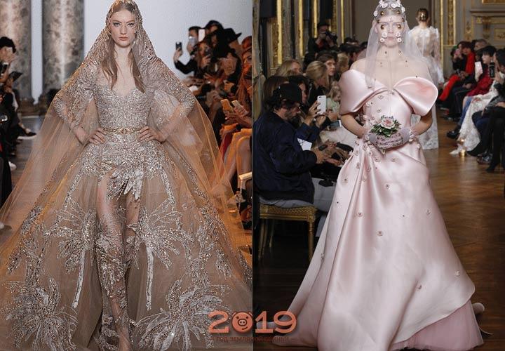 Розовое платье невесты 2018-2019 год