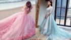 Цветные свадебные платья мода 2018-2019 года