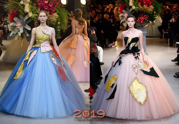 Экстравагантные цветные свадебные платья 2018-2019