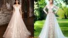 Стильное свадебное платье с декором