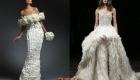 Платье невесты с перьями 2018-2019