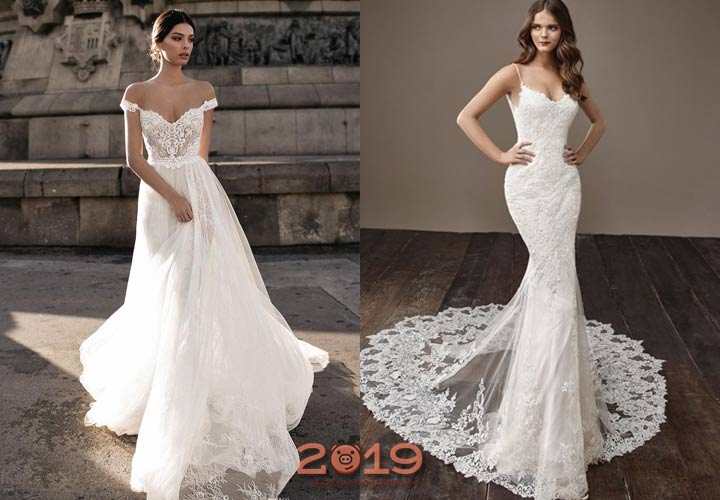 Гипюровое платье невесты 2018-2019