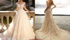 Модное кружевное подвенечное платье