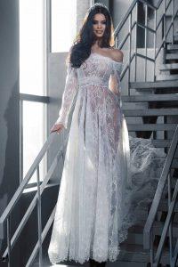 Прозрачное свадебное платье 2018-2019 год