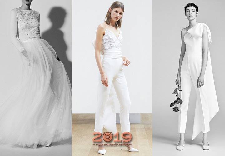 Свадебный брючный костюм 2018-2019