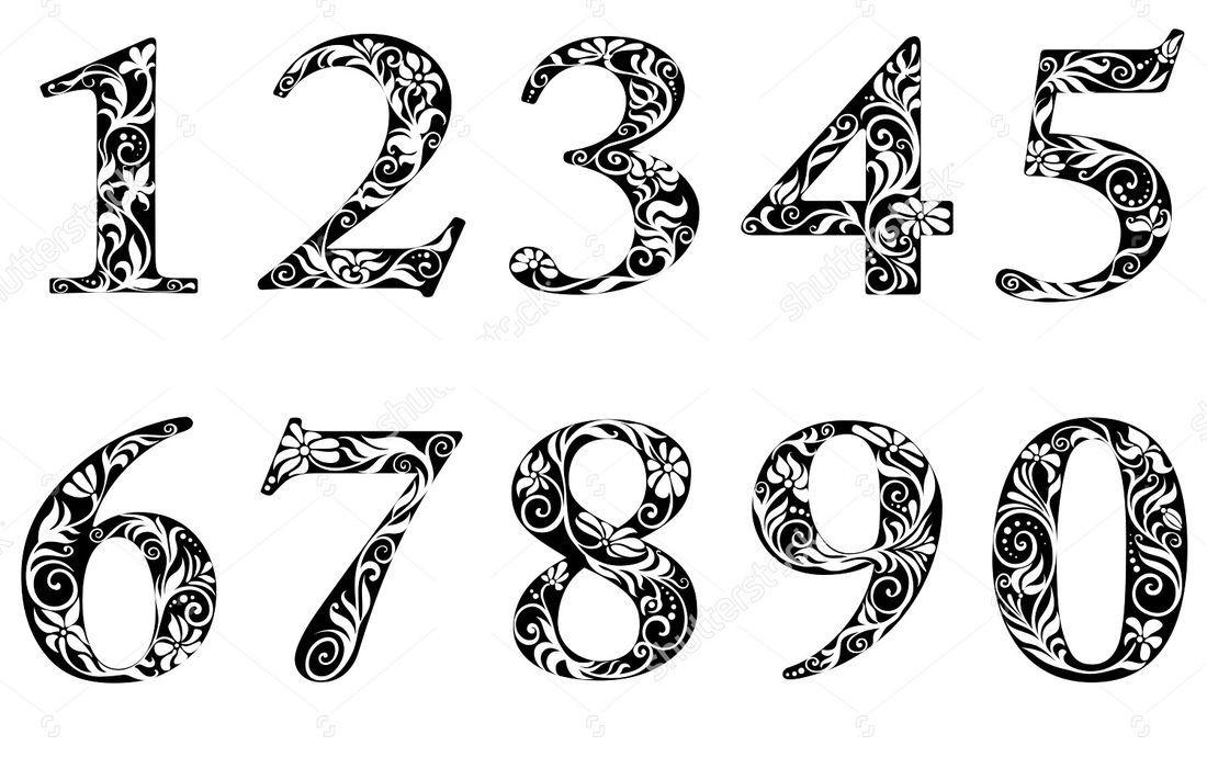 Вытынанки цифры