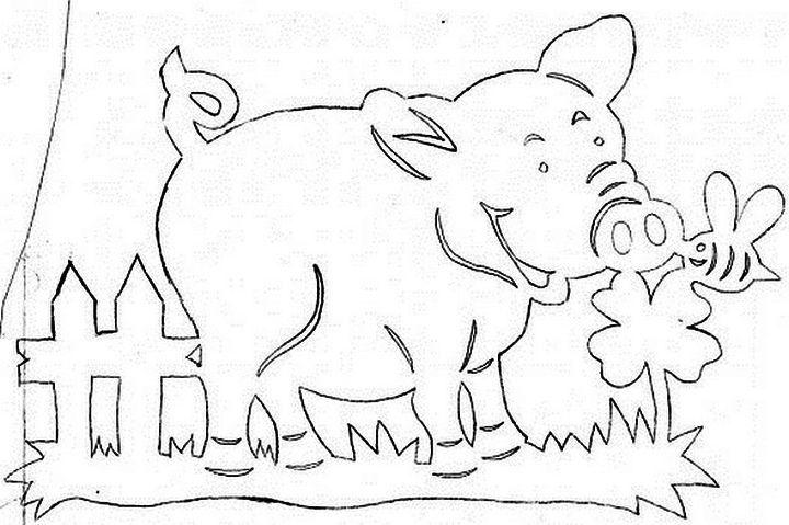 Вытынанка свинка