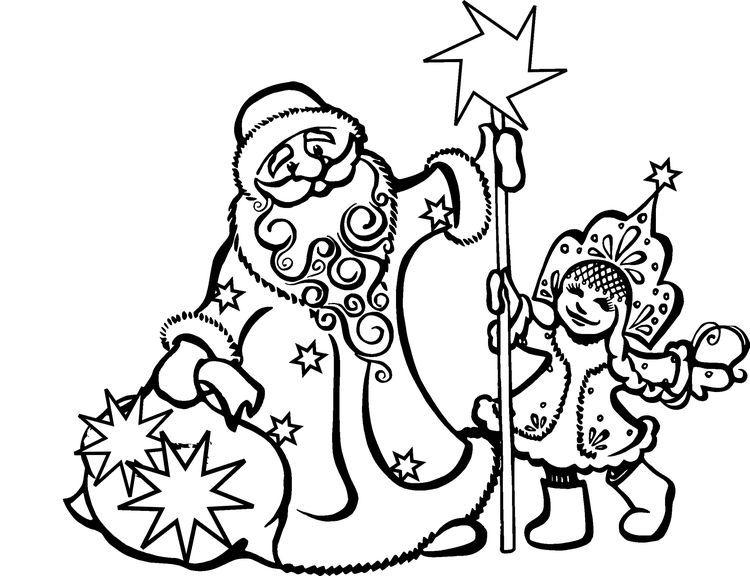 Дед Мороз вытынанка