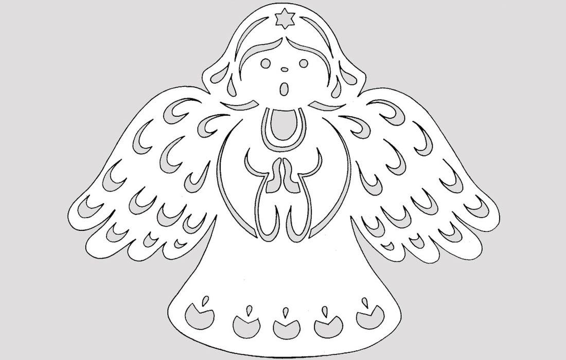 Вытынанка ангелок