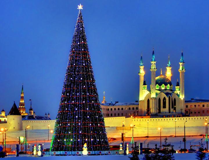 Казань на Новый год