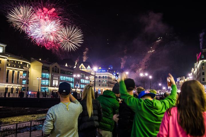 Новый год в Роза Хутор