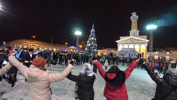 New Year at Susaninskaya Square