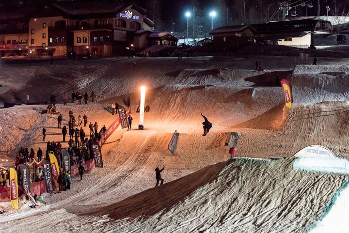 Роза Хутор: трасса для сноубординга