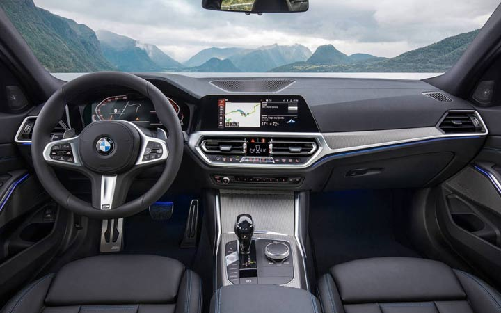 Интерьер BMW 3-series 2019 года