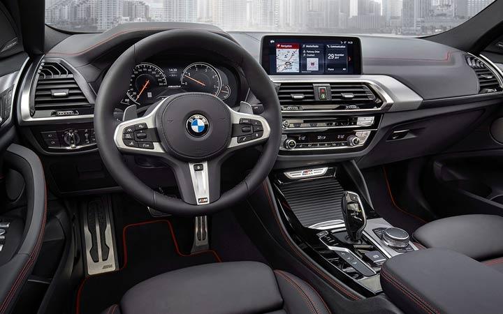 Интерьер BMW X4 2019 года