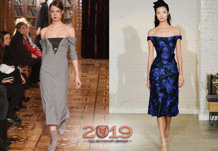 Классические платья 2018-2019 года