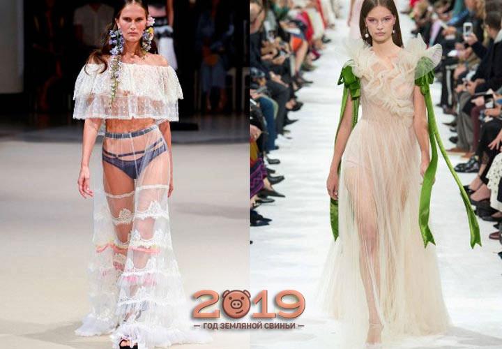прозрачное платье 2018-2019