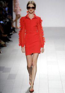 Короткое красное платье 2018-2019