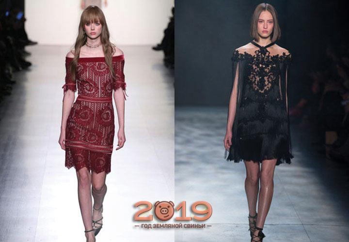Кружевные платья 2018-2019