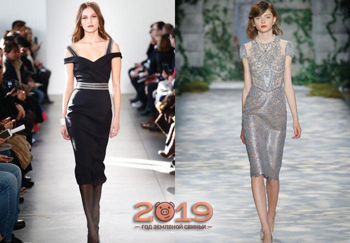 Облегающее платье 2019