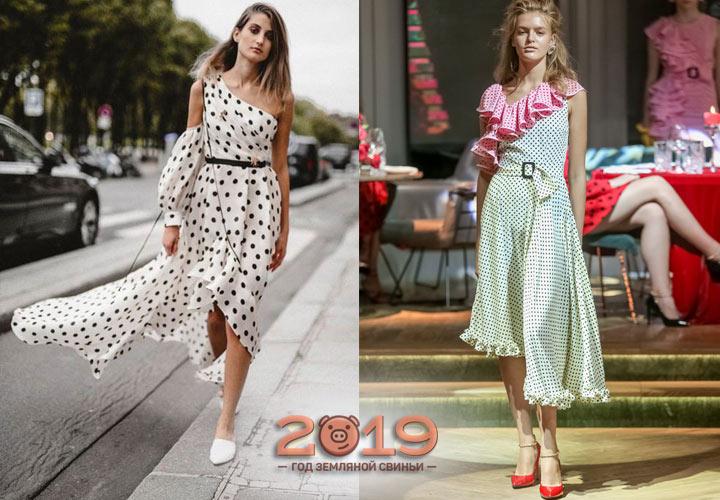 Платье в горошек 2018-2019 года