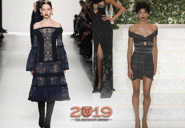 Стильные фасоны платьев 2019 года