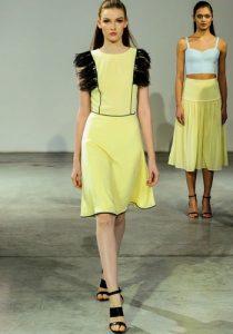 Sarı elbise a-siluet 2018