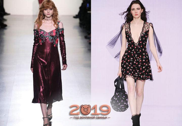 Красивые платья сезона 2018-2019