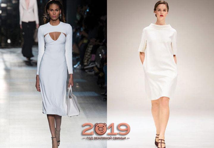 прямое облегающее платье 2018-2019