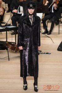 Блестящее пальто Chanel 2018-2019