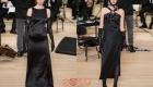 Длинное черное платье Шанель 2019