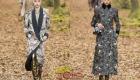 Пальто с принтом Chanel осень-зима 2018-2019