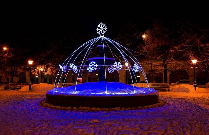 Kostroma in the winter on New Year