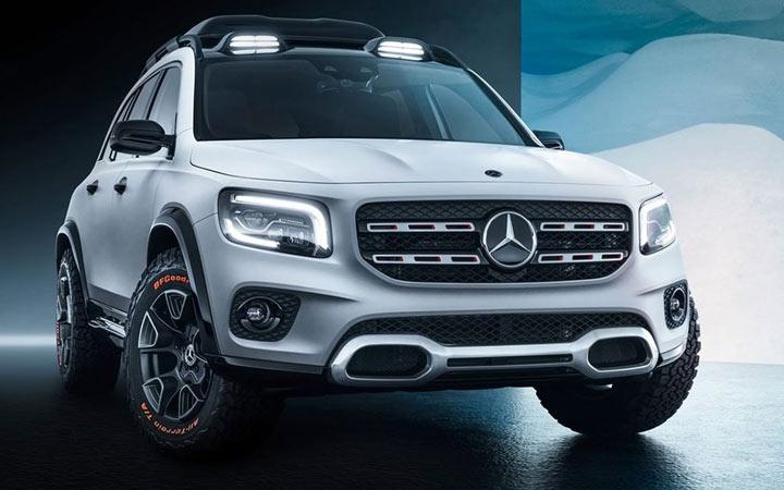 Экстерьер нового Mercedes GLB 2019-2020 года